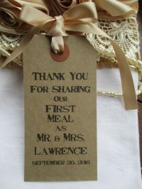 10 Rustic Wedding Table Place Setting Tag Napkin Tie ...